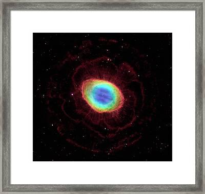 Ring Nebula M57 Framed Print by Nasa/esa/stsci