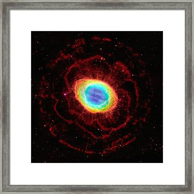 Ring Nebula's True Shape Framed Print by Marco Oliveira