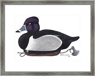 Ring-neck Duck Decoy Framed Print