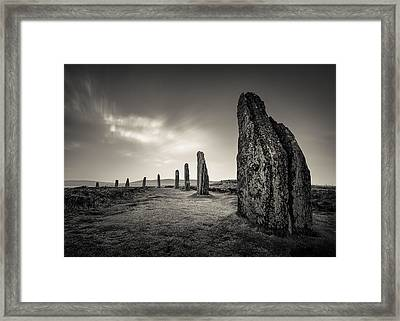 Ring Of Brodgar Framed Print by Dave Bowman