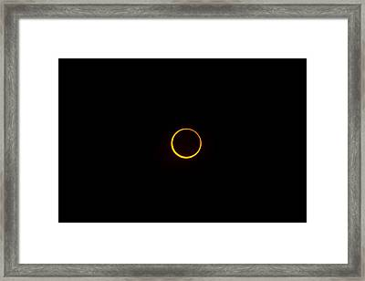 Ring Of Fire 1 Framed Print by Joel Loftus