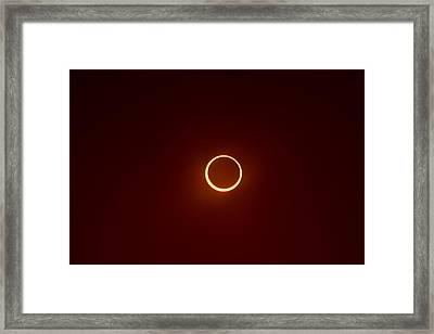 Framed Print featuring the photograph Ring Of Fire 2 by Joel Loftus
