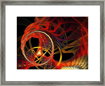Ring Of Fire Framed Print by Andee Design