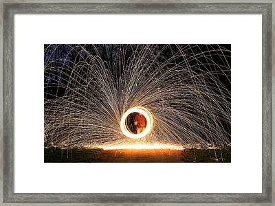 Ring Of Fire Framed Print by Anna-Lee Cappaert