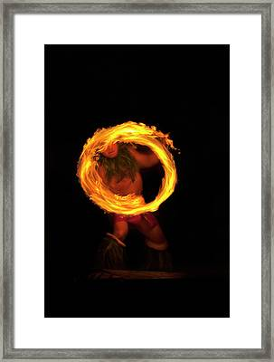 Ring Of Fire Framed Print by Mike  Dawson