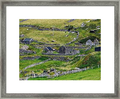 Ring Of Kerry Irish Stone Framed Print