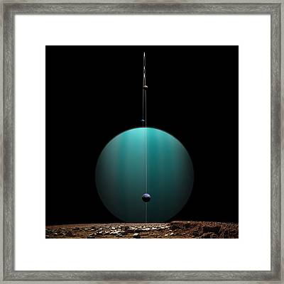 Ringed World No.4 Framed Print by Marc Ward