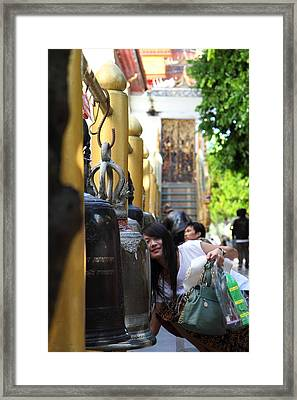Ringing Of The Bells - Wat Phrathat Doi Suthep - Chiang Mai Thailand - 01132 Framed Print by DC Photographer