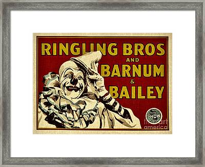 Ringling Bros   Barnum And Bailey Circus Framed Print