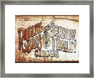 Ringling Brothers And Barnum And Bailey Circus Framed Print