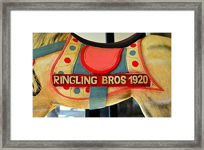 Ringling Carousel Horse 1920 Framed Print by David Lee Thompson
