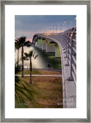 Ringling Causeway Bridge Overlook Framed Print
