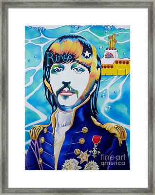 Ringo Framed Print by Debbie  Diamond