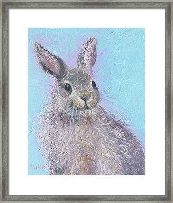 Easter Bunny Painting - Ringo  Framed Print by Jan Matson