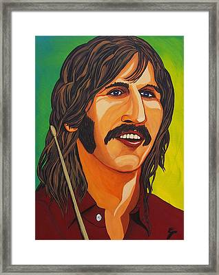 Ringo Star    Stick Framed Print