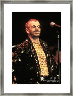 Ringo Starr And His All Starr Band Framed Print by Concert Photos