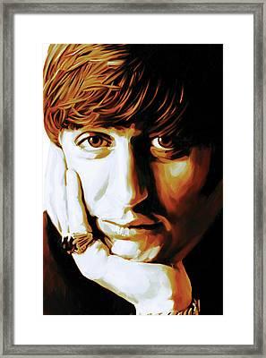 Ringo Starr Artwork Framed Print by Sheraz A