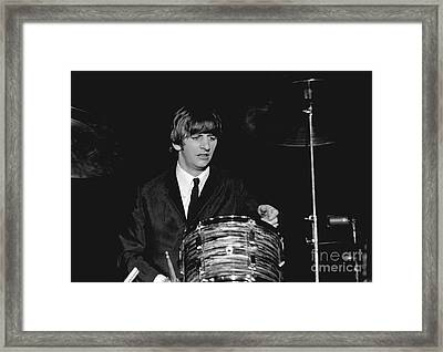 Ringo Starr, Beatles Concert, 1964 Framed Print by Larry Mulvehill