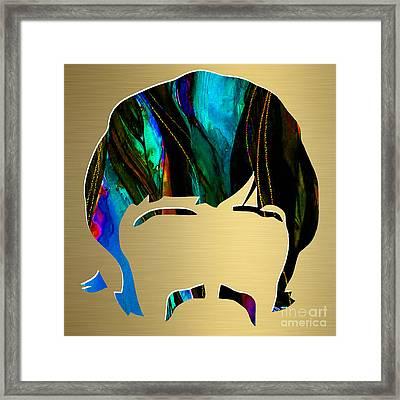 Ringo Starr Gold Series Framed Print by Marvin Blaine