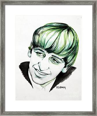 Ringo Starr Framed Print by Maria Barry