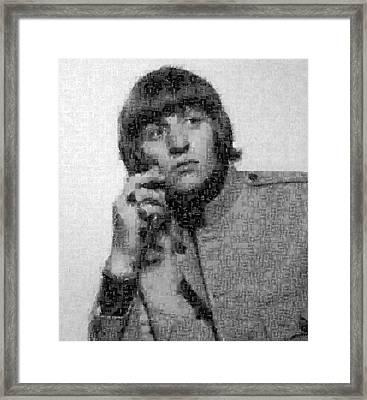 Ringo Starr Mosaic Image 1 Framed Print by Steve Kearns