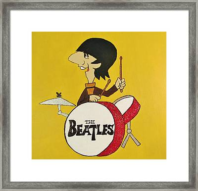 Ringo Starr The Beatles Framed Print by Donna Wilson