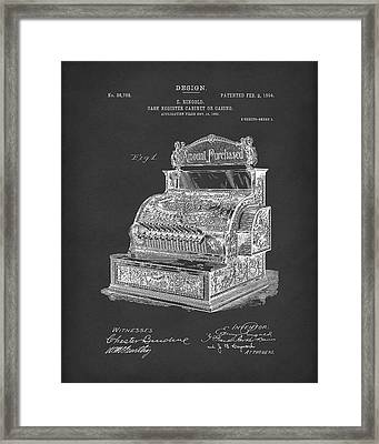 Ringold Cash Register 1904 Patent Art Black Framed Print