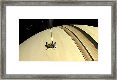 Rings Above Framed Print