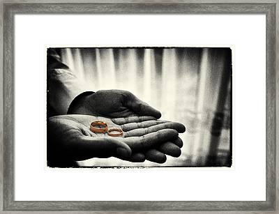 Rings Of Love Framed Print