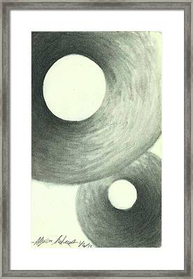 Rings Of Shadow Framed Print by Allyson Andrewz