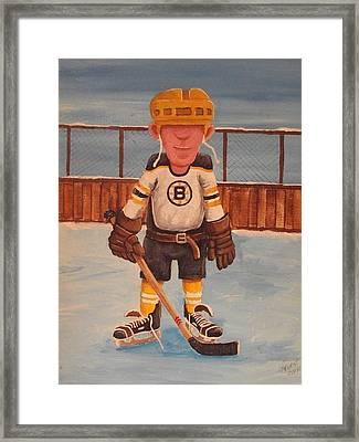 Rinkrattz - Boston Rg Framed Print by Ron  Genest