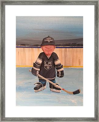 Rinkrattz - La Kings Framed Print