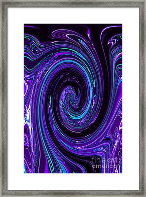Rinse Cycle Blue And Purple Framed Print by George Zhouf