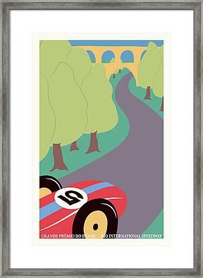 Rio Brazil Grand Prix Framed Print by Georgia Fowler