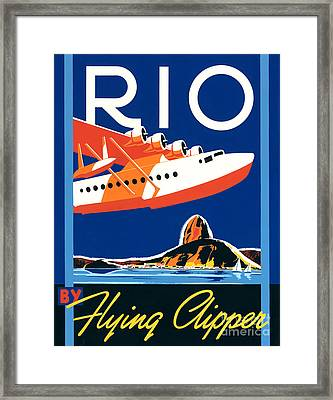 Rio By Flying Clipper Framed Print by Brian James