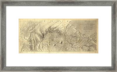 Rio Colorado Of The West Antique Map - 1858 Framed Print by Eric Glaser