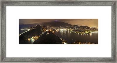 Rio De Janeiro Panorama Cityscape Framed Print by Mike Reid