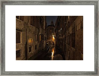 Framed Print featuring the photograph Rio Della Verona by Marion Galt