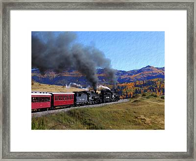 Rio Grande 488 And 489 Framed Print by Kurt Van Wagner