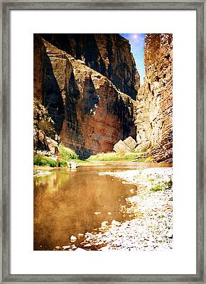 Rio Grande At Santa Elena Canyon Framed Print