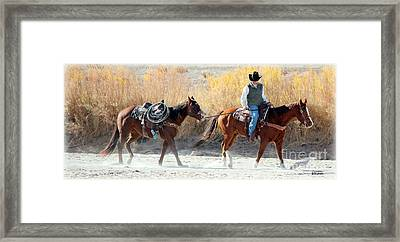Framed Print featuring the photograph Rio Grande Cowboy by Barbara Chichester