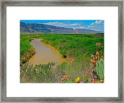 Rio Grande East Of Santa Elena Canyon In  Big Bend National Park-texas Framed Print by Ruth Hager