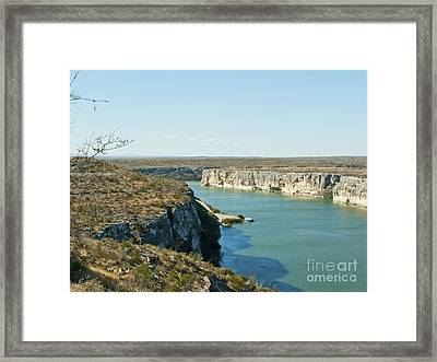Framed Print featuring the photograph Rio Grande by Erika Weber