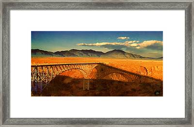 Rio Grande Gorge Bridge Heading To Taos Framed Print