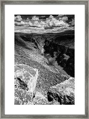 Rio Grande Gorge - Taos New Mexico Framed Print