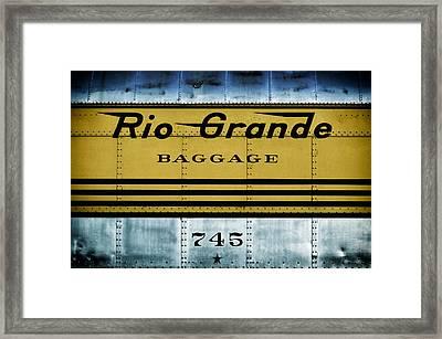 Rio Grande Ride'n The Rails Framed Print by Carter Jones