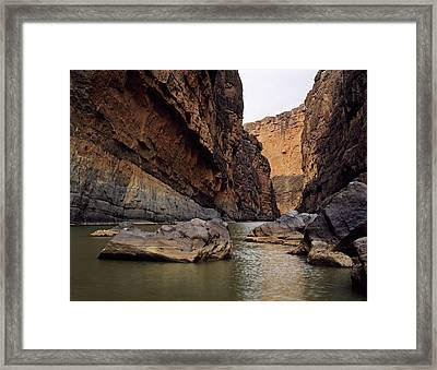 Rio Grande Winding Through Santa Elena Framed Print by Panoramic Images