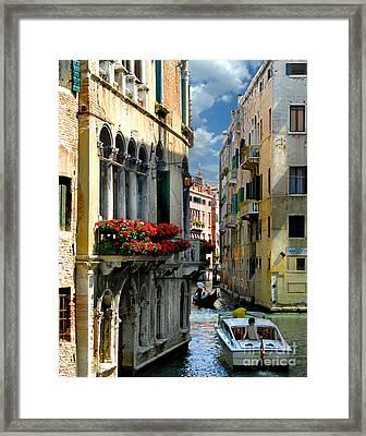 Framed Print featuring the photograph Rio Menuo O De La Verona. Venice by Jennie Breeze