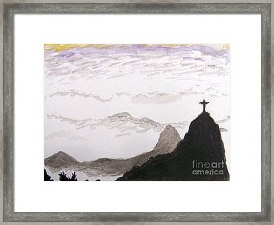 Rio Sunrise Framed Print by Kevin Croitz