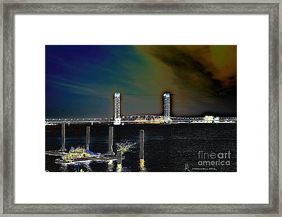 Rio Vista Bridge Framed Print